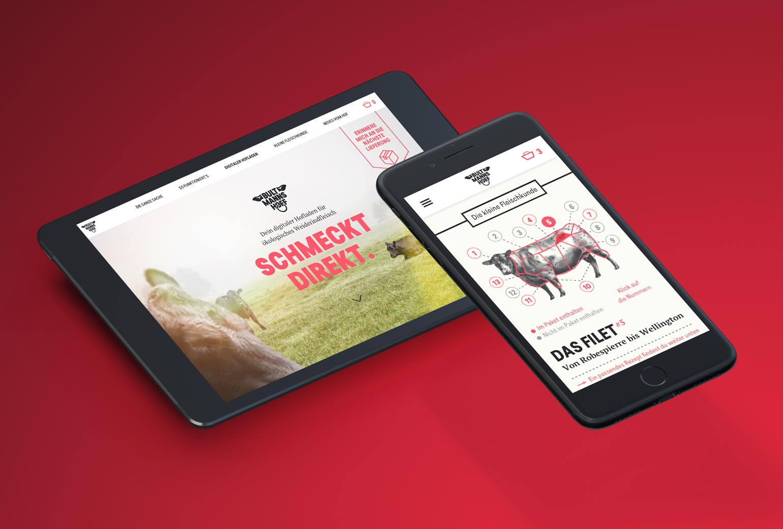 ZN Case: Bultmanns Hoff, Webdesign Mobile