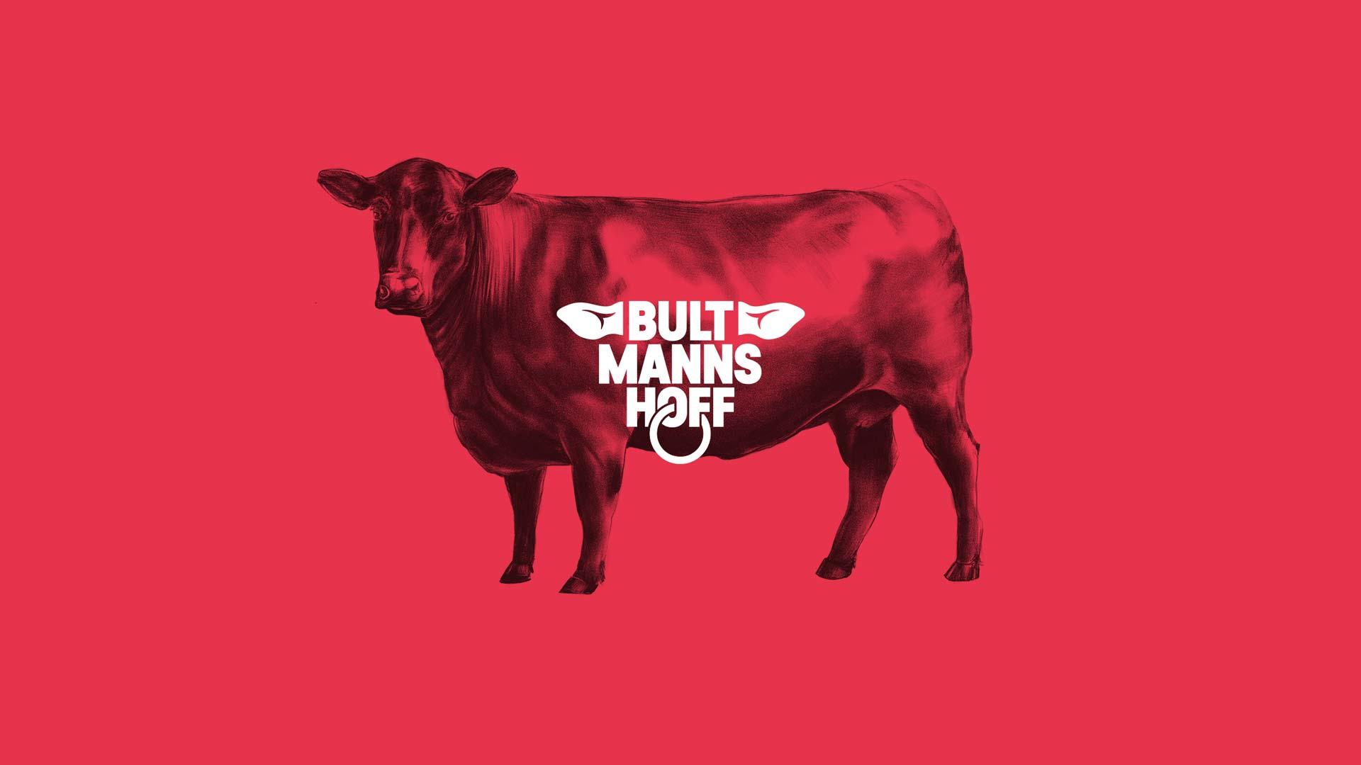 ZN Case: Bultmanns Hoff, Logo und Illustration eines Rinds