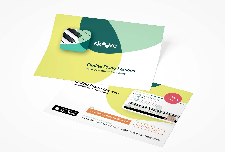 ZN Case: Skoove App, Corporate design Flyer