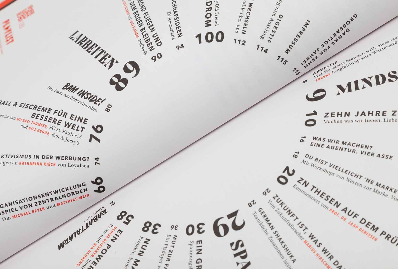 Zentralnorden Magazin Detailbild: Inhaltsverzeichnis